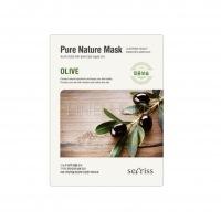 Secriss pure nature mask pack-olive [Маска для лица тканевая]