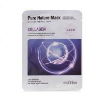 Secriss pure nature mask pack- collagen [Маска для лица тканевая]