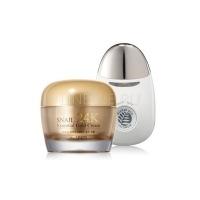Snail essential ex 24k gold cream set [Крем для лица и вибромассажер]
