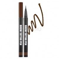 Brow tattoo pen - deep brown [Ручка-татту для бровей]